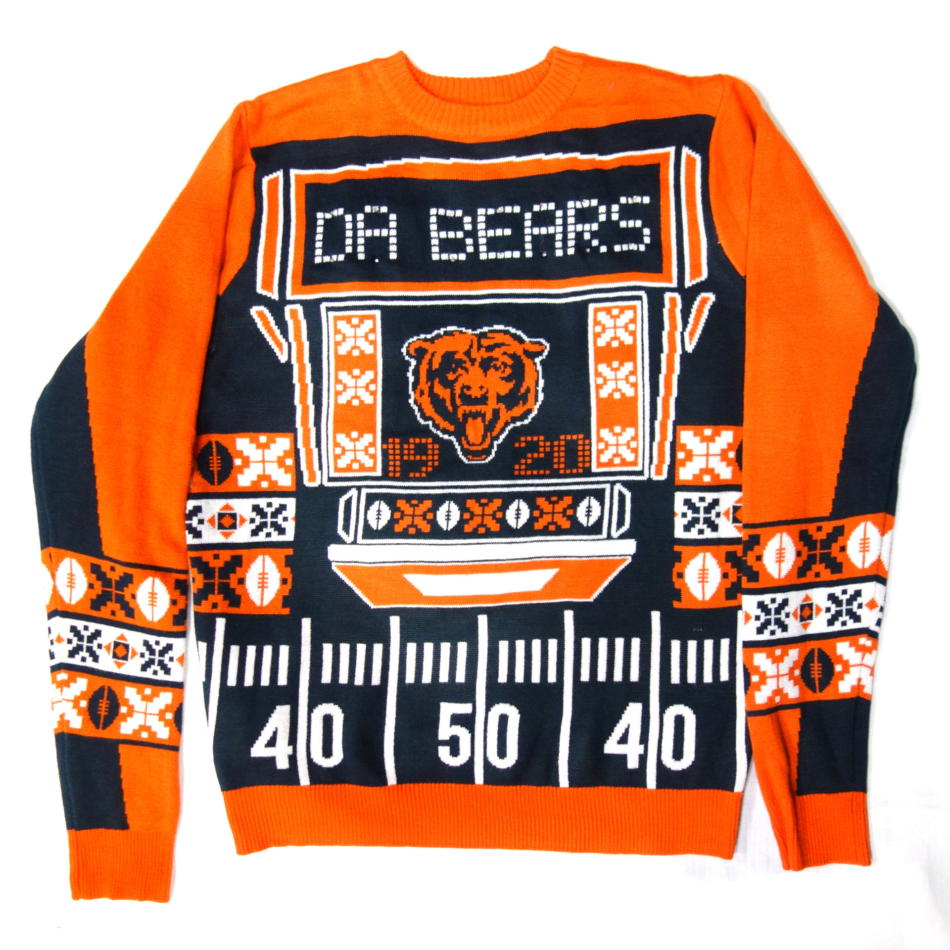 NFL Ugly Sweater Chicago Bears Weihnachten Pullover mit Lichtern