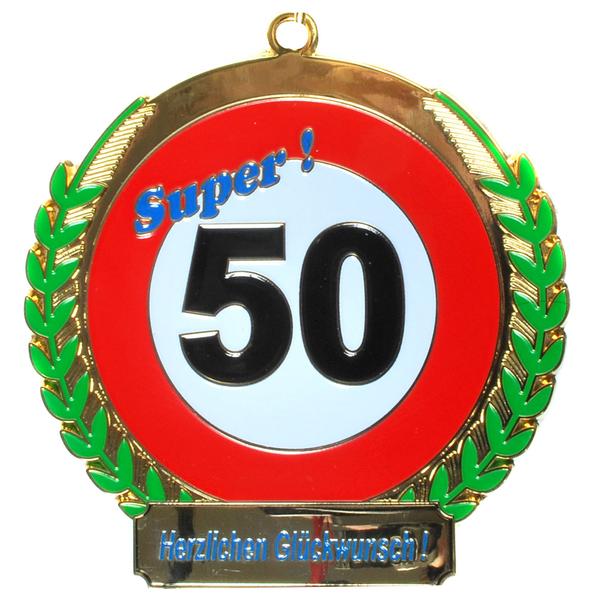 """Geburtstagsgeschenk Orden """"50"""" Kette Geschenkidee"""
