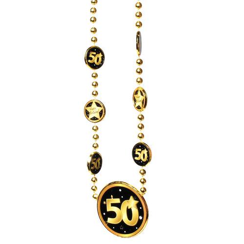 """Geburtstagsdekoration """"50"""" Geschenkidee Halskette"""