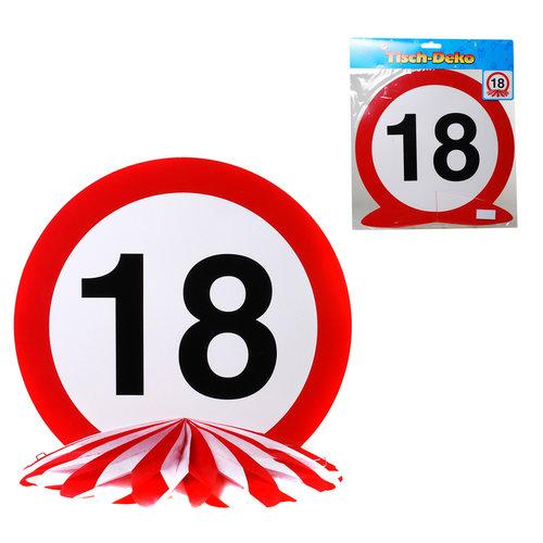 """Geburtstagsdekoration Tisch-Deko """"18"""""""
