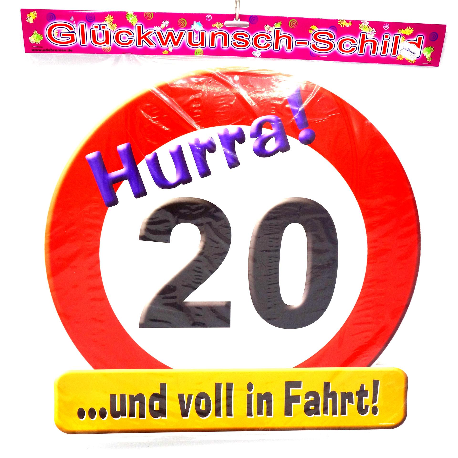 Geburtstags Riesen Deko Schild Super 20
