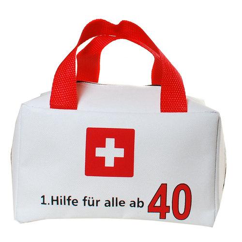"""Geburtstagsdekoration """"40"""" Geschenkidee 1. Hilfe Tasche Spaßgeschenk"""