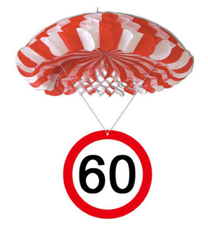 """Geburtstagsdekoration Hänge-Deko """"60"""" Fallschirm"""