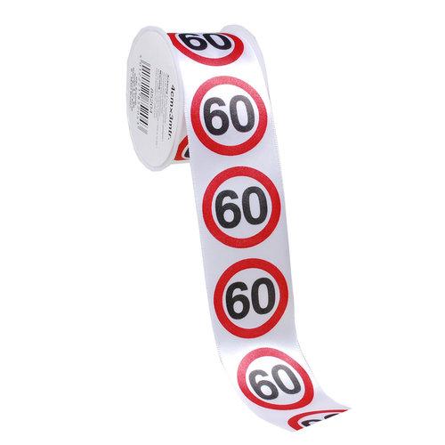 """Geburtstagsdekoration Geschenkband """"60"""""""