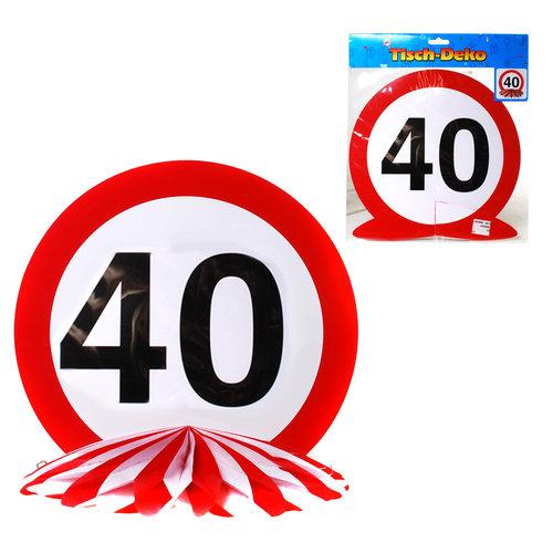 """Geburtstagsdekoration Tisch-Deko """"40"""""""