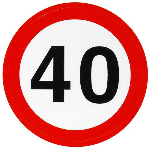 """Geburtstagsdekoration Aufkleber """"40"""" Sticker"""