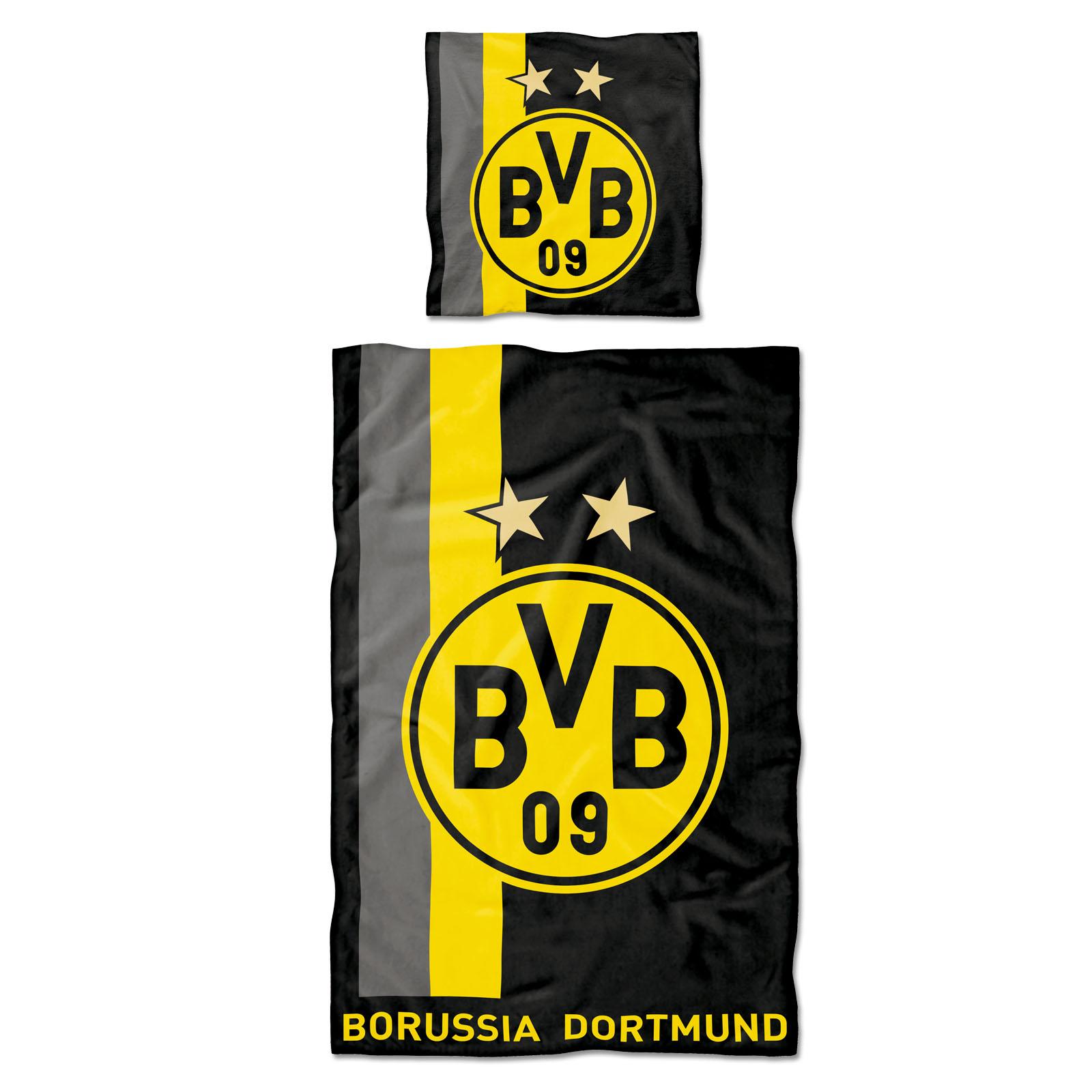 BVB Bettwäsche mit Streifenmuster