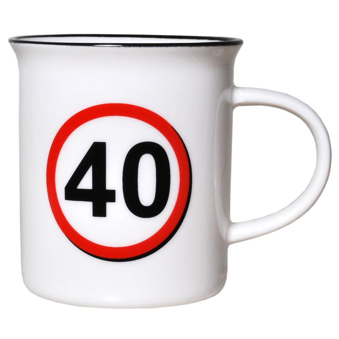 """Geburtstagsgeschenk Tasse """"40"""" Becher"""