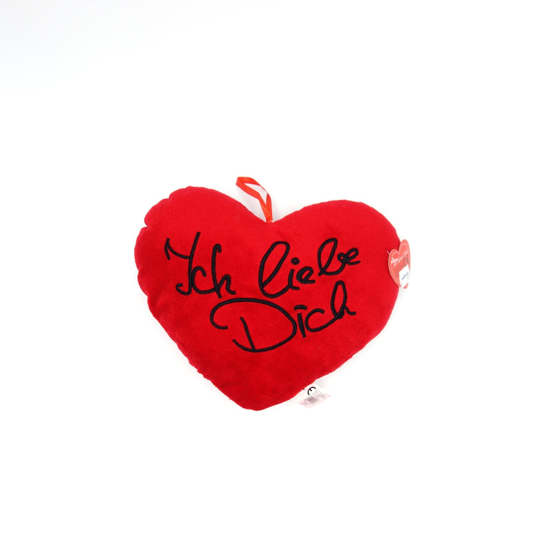 Kleines Plüsch Herz Rot Ich Liebe Dich