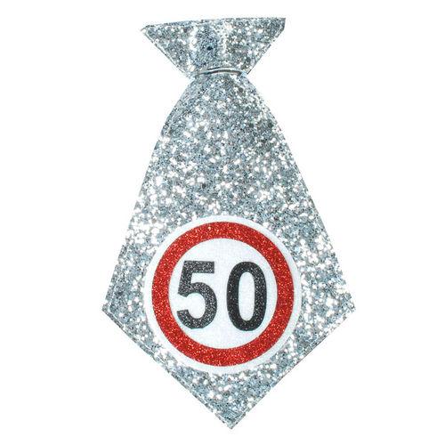 """Geburtstagsgeschenk Mini-Krawatte """"50"""" Spaßgeschenk"""