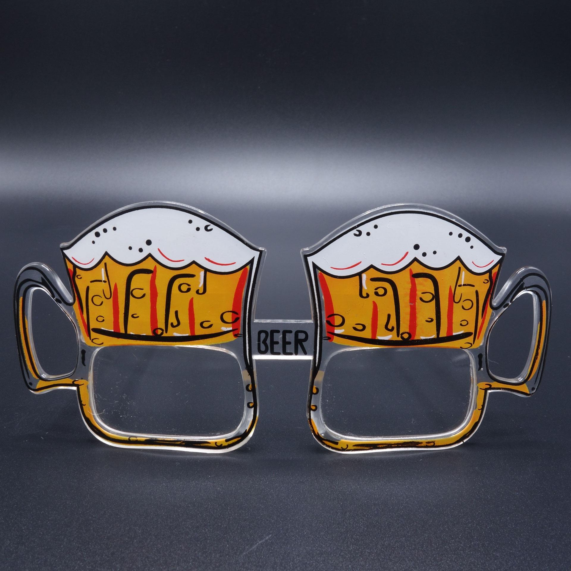 Partybrille Spassbrille Scherzarikel Brille Bier