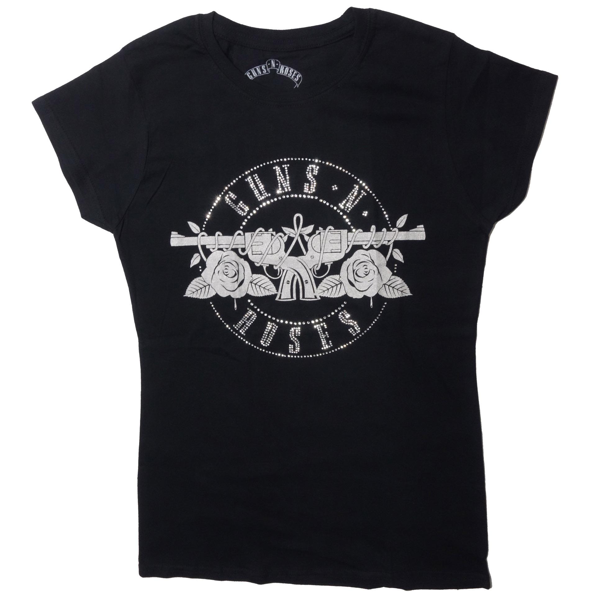 Lady T-Shirt Damen Guns 'N Roses Logo
