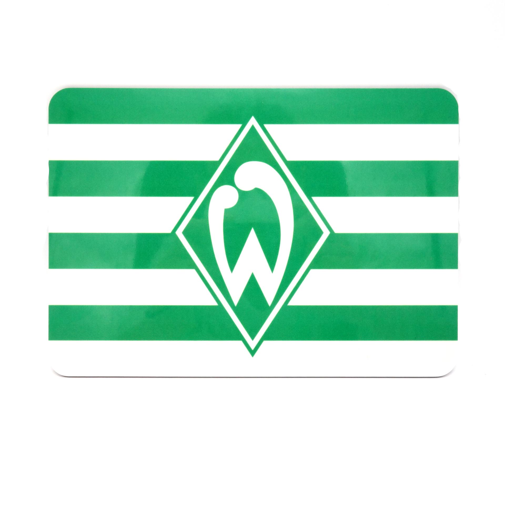 Werder Bremen Frühstücksbrettchen Ricolor Raute Streifen Grün Weiss