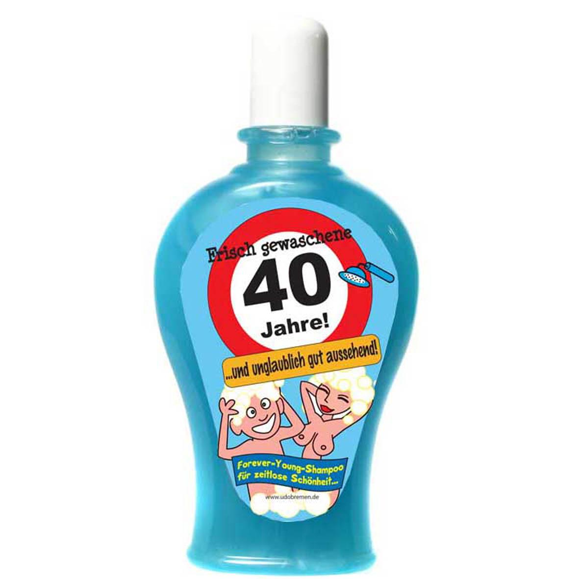 """Geburtstagsgeschenk Shampoo """"40"""" Spaßartikel"""