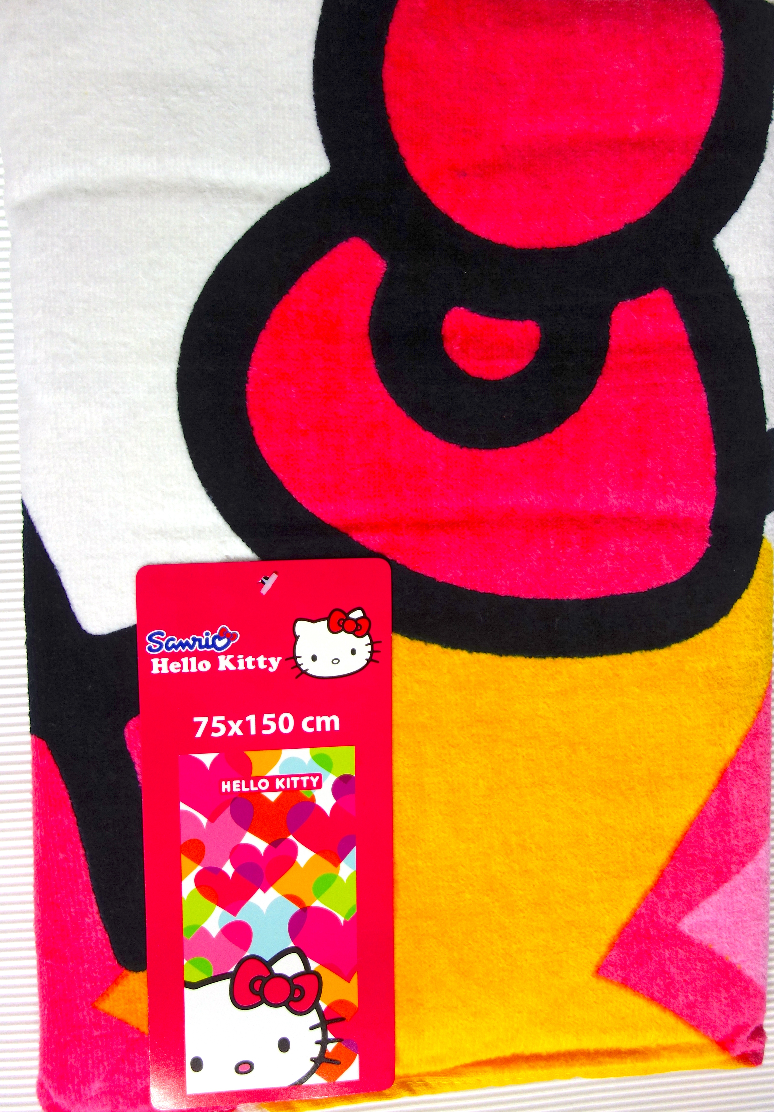 Hello Kitty Duschtuch Herzen