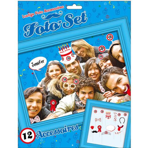 """Geburtstagsdekoration Partyidee Foto-Set """"18"""" Lustige Foto Accessoires"""