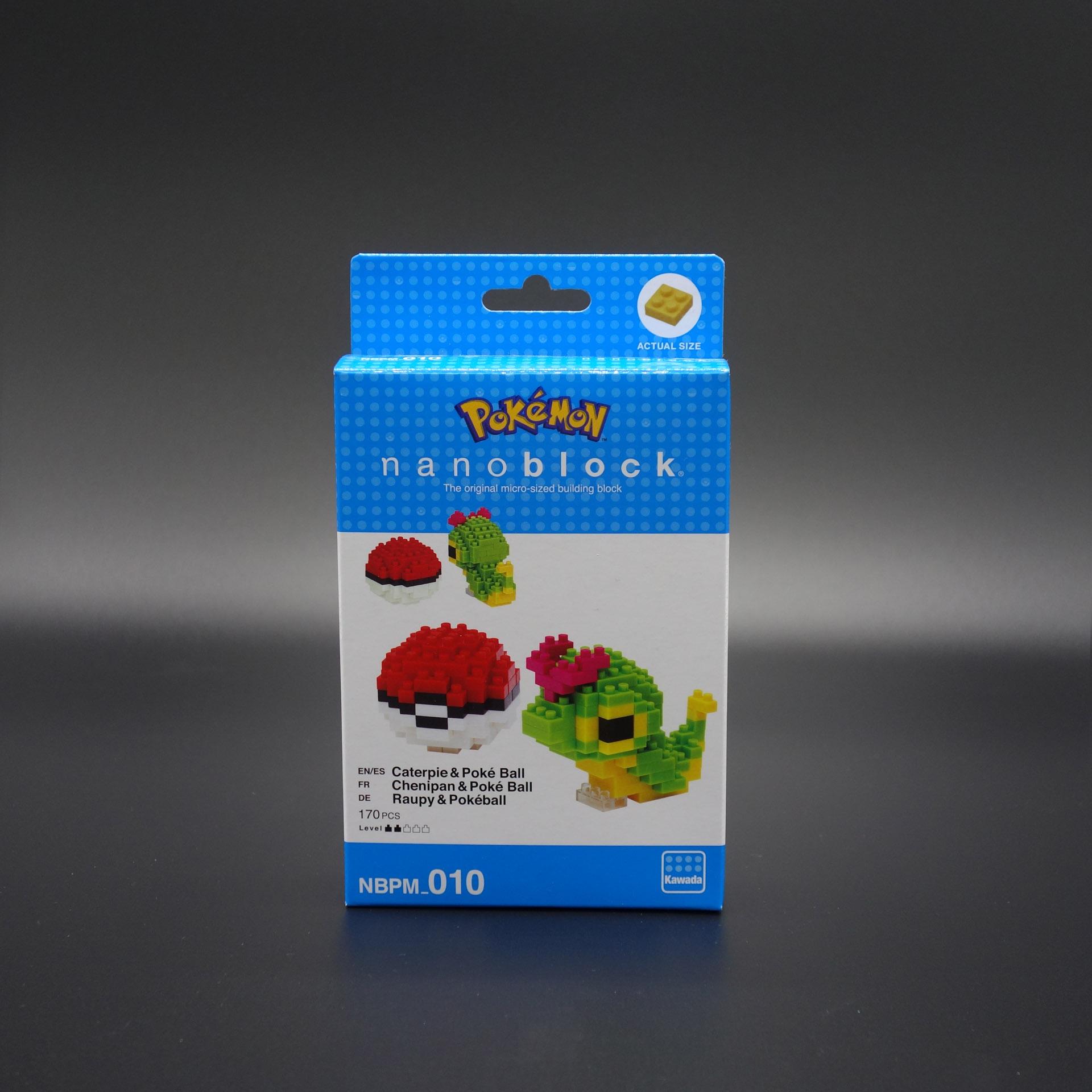 Pokemon nanoblock Raupy & Pokeball