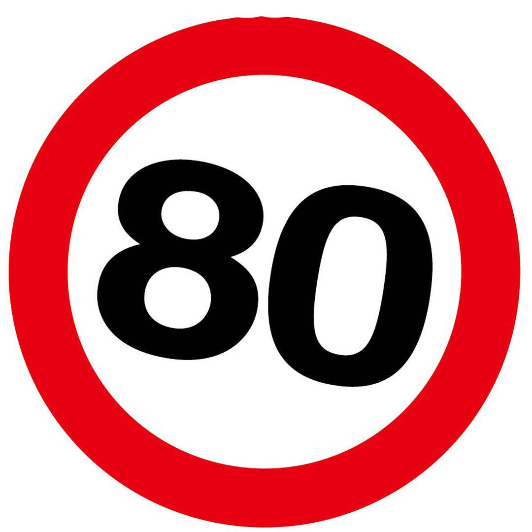 """Geburtstagsdekoration Aufkleber """"80"""" Sticker"""