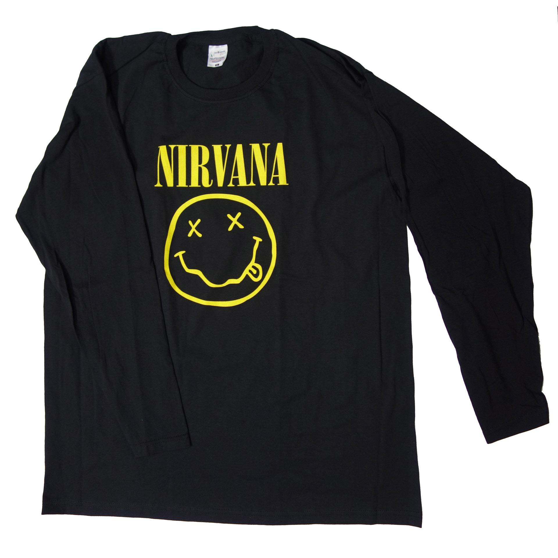 Lady T-Shirt Damen Nirvana Longsleve Smiley