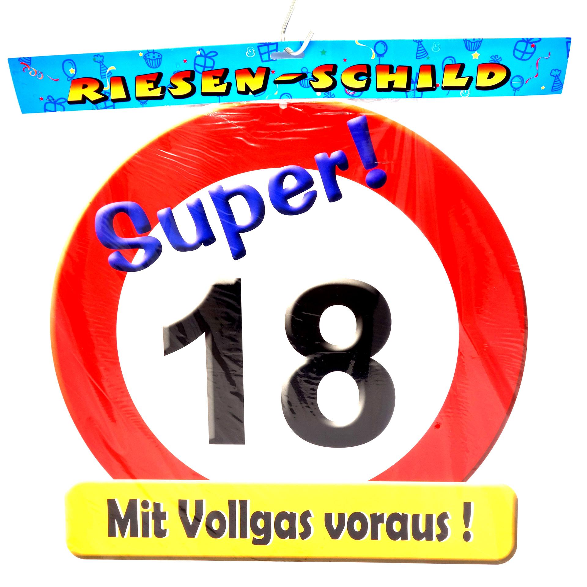 Geburtstags Riesen Deko Schild Super 18