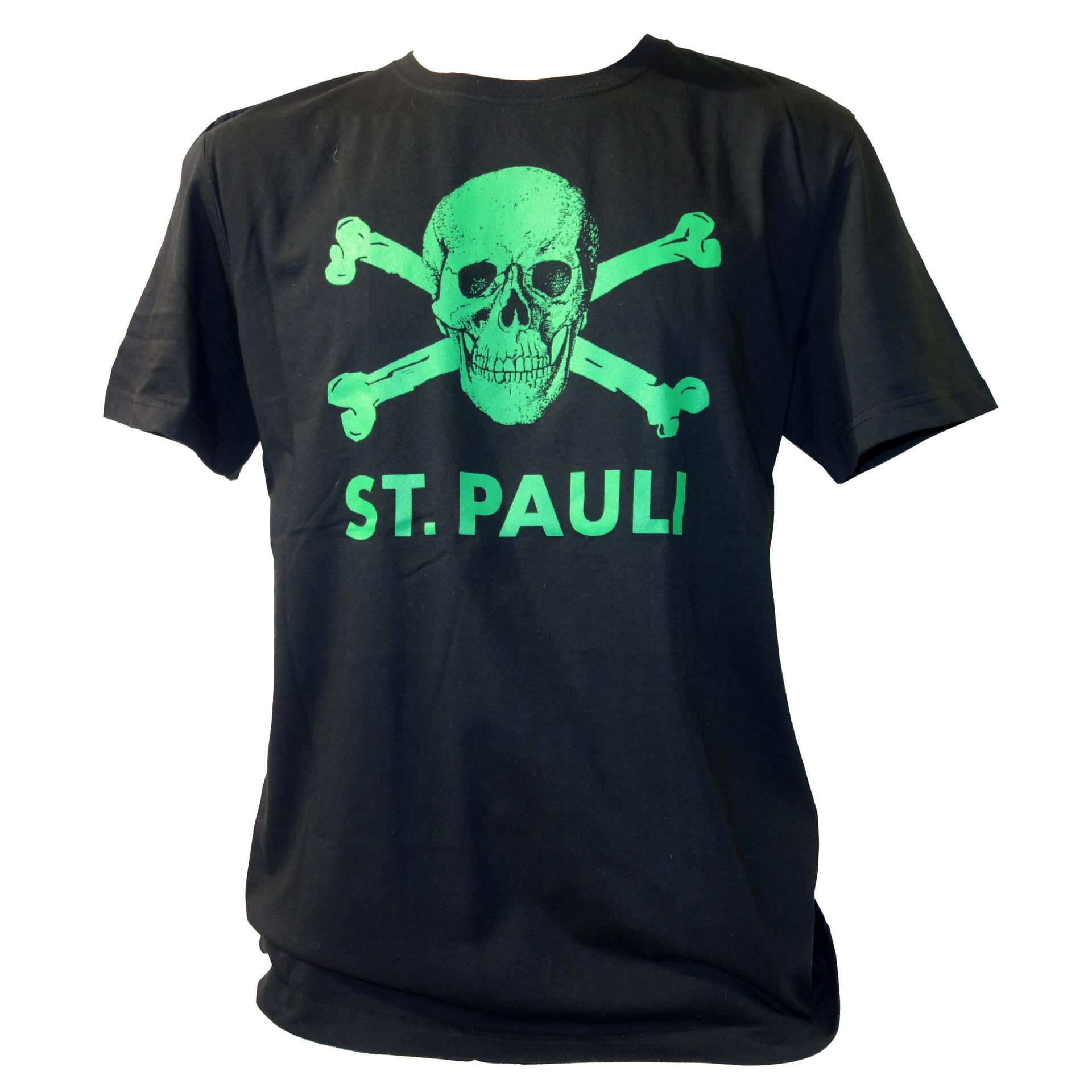 FC St. Pauli T-Shirt Totenkopf grün