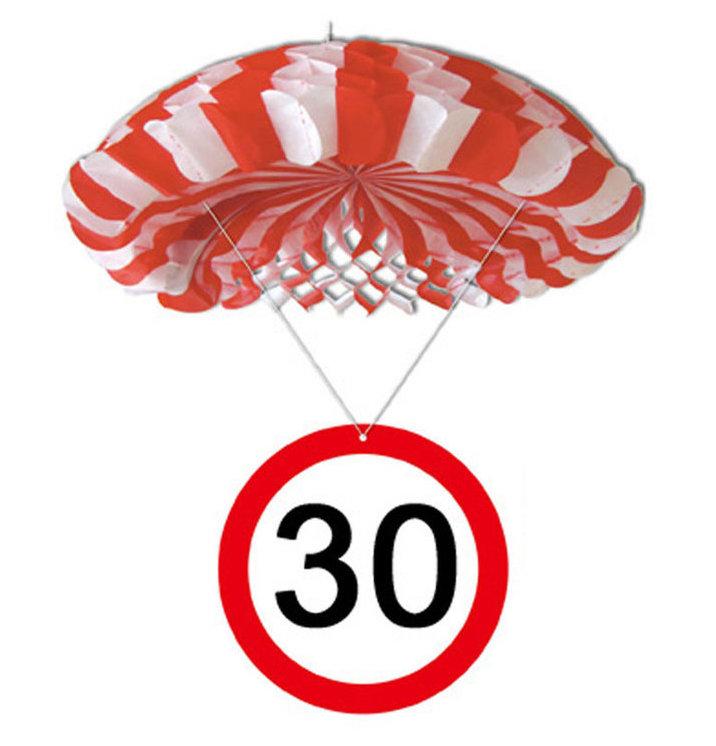 """Geburtstagsdekoration Hänge-Deko """"30"""" Fallschirm"""
