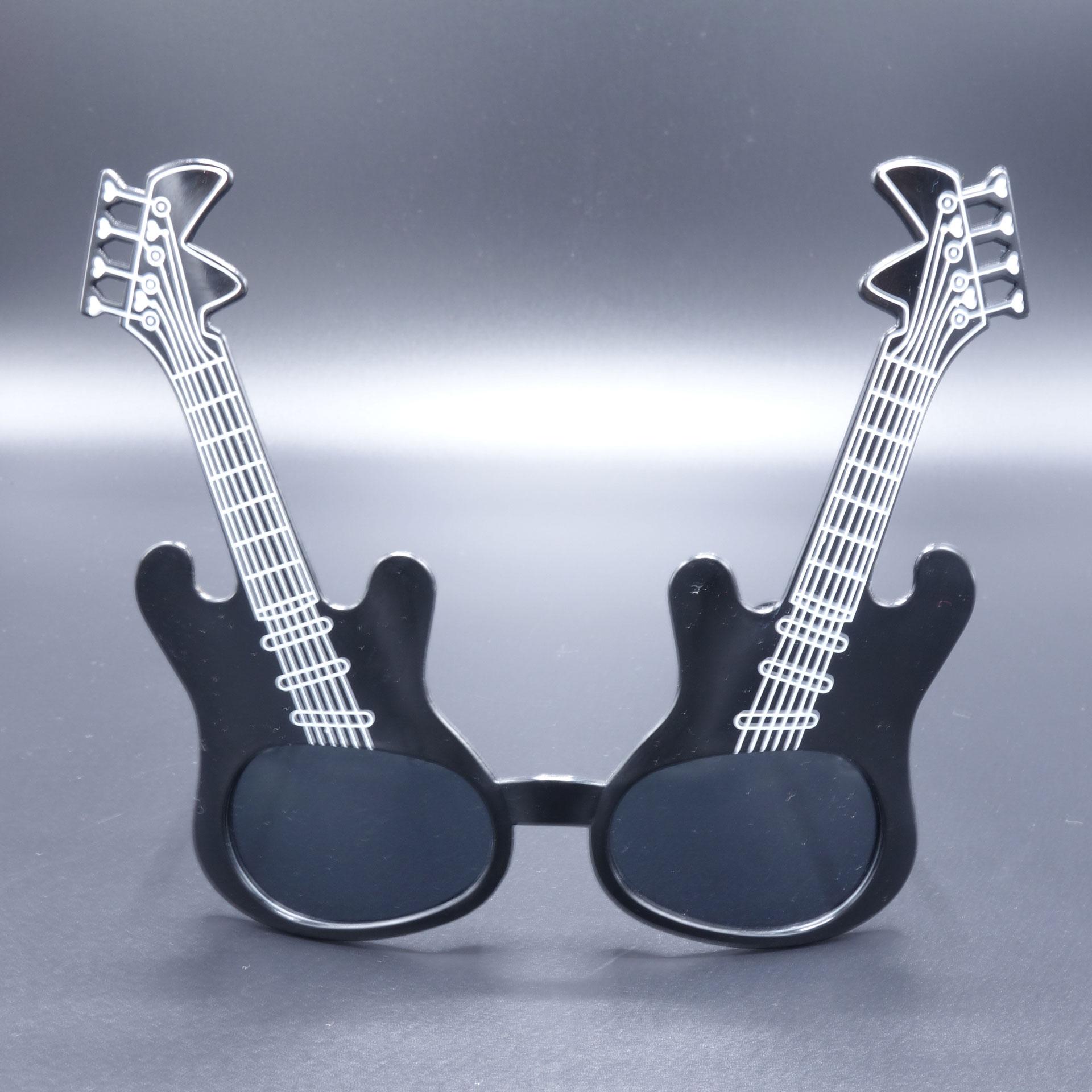 Partybrille Spassbrille Scherzartikel Brille Gitarre