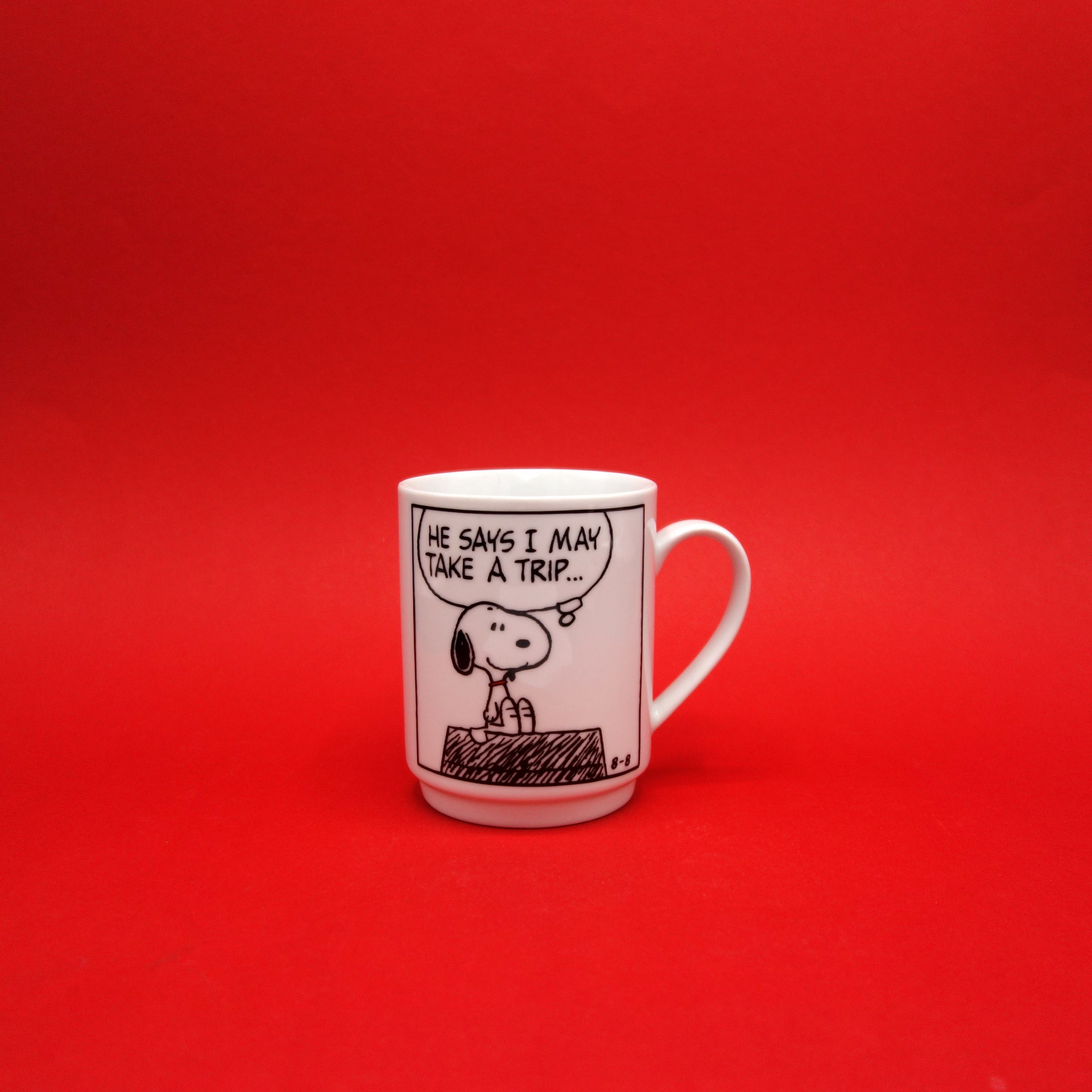 Snoopy Peanuts Tasse He Says I May...
