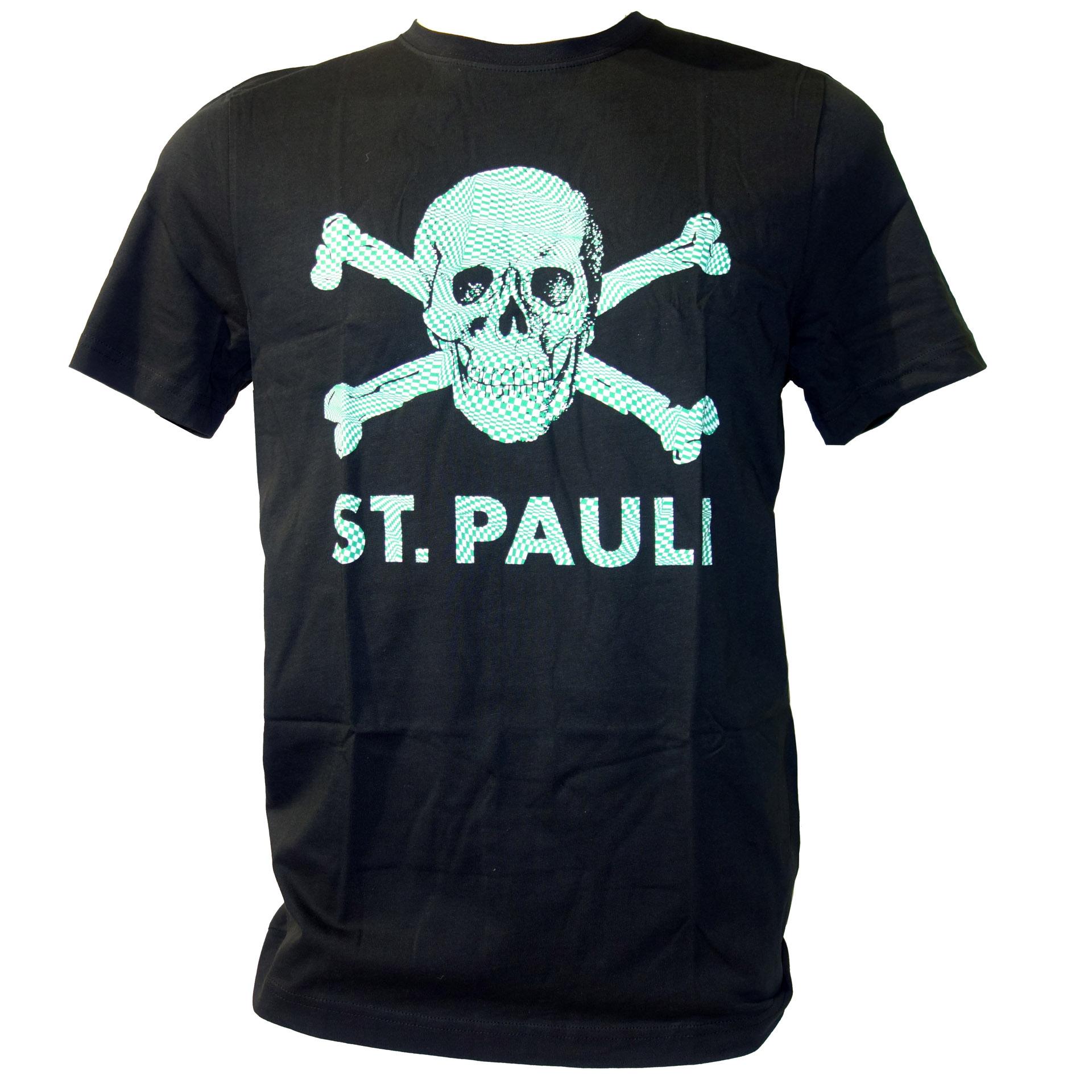 FC St. Pauli T-Shirt Totenkopf kariert