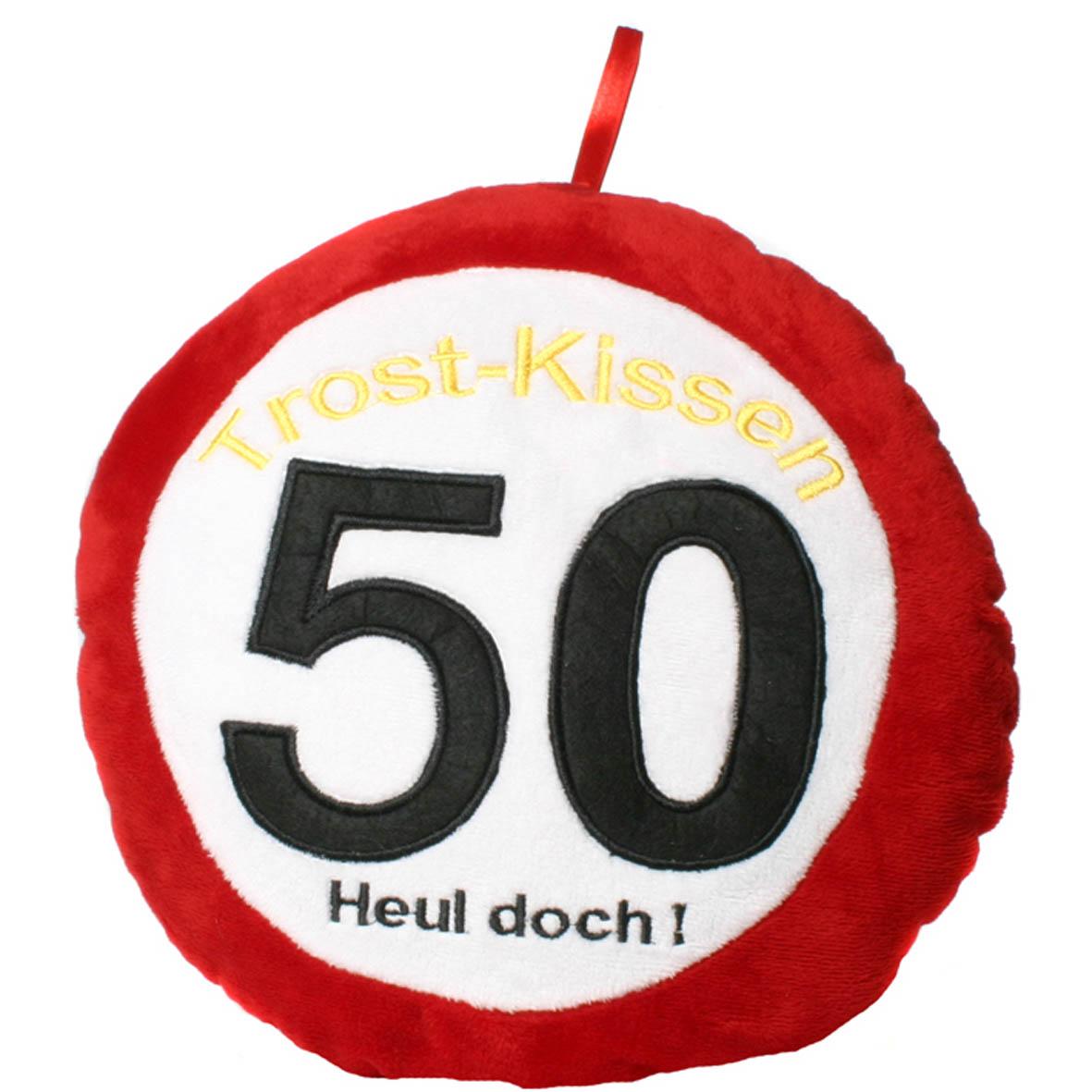 """Geburtstagsdekoration Geschenkidee Trost-Kissen """"50"""""""