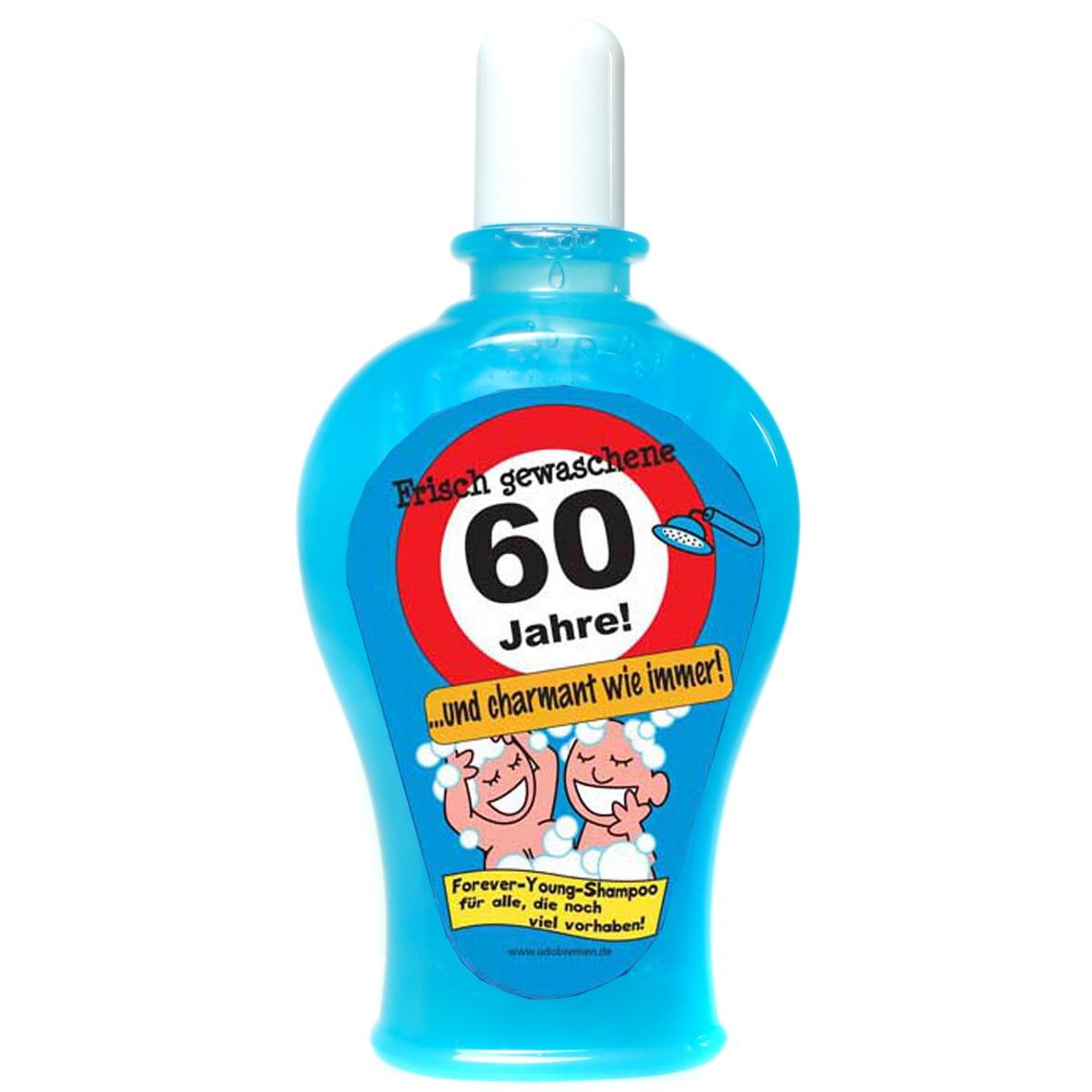 """Geburtstagsgeschenk Shampoo """"60"""" Spaßartikel"""
