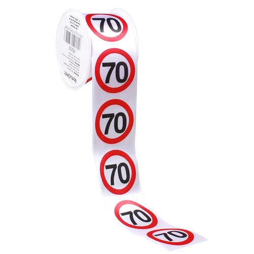 """Geburtstagsdekoration Geschenkband """"70"""""""