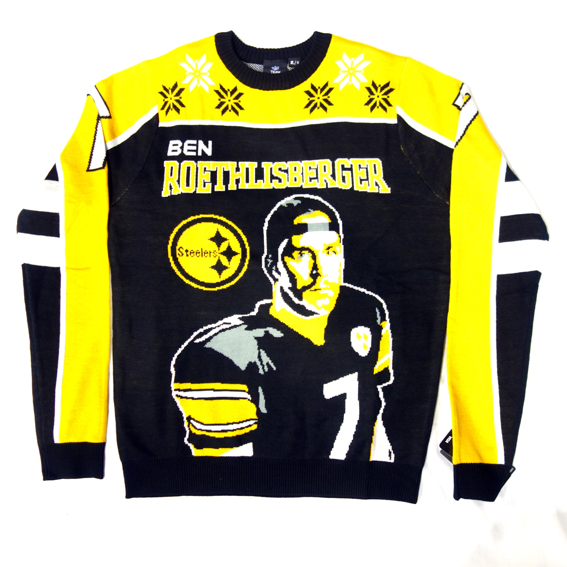 NFL Ugly Sweater Pittsburgh Steelers Roethilsberger Pullover