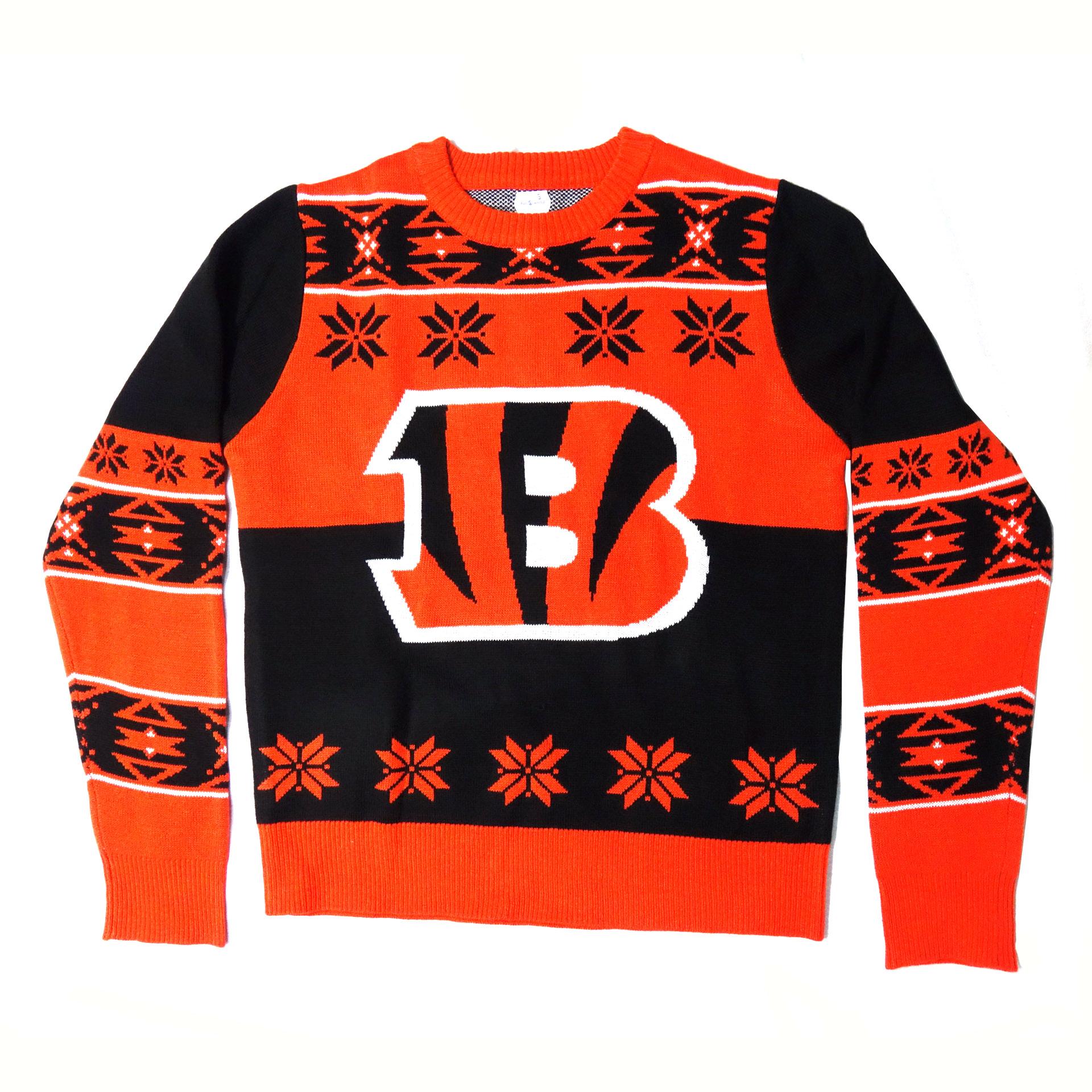 NFL Pullover Cincinnati Bengals Ugly Sweater Logo