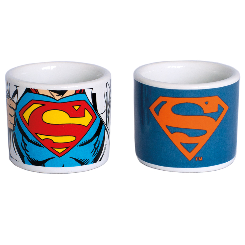 "Superman Eierbecher Set 2er Set ""Man of Steel"" Set of two egg cups"