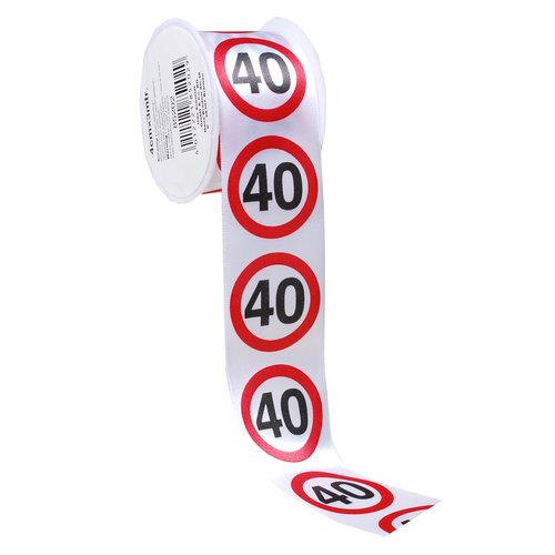 """Geburtstagsdekoration Geschenkband """"40"""""""