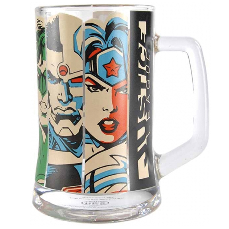 Justice League Glas Krug Glass Mug