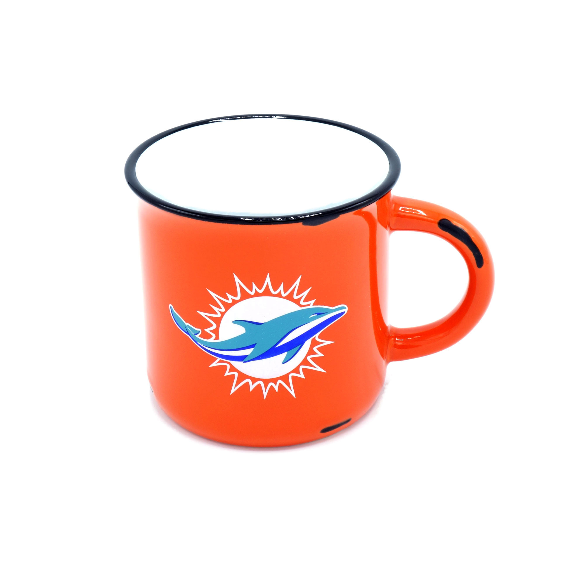 NFL Tasse Miami Dolphins Vintage Emaille Optik