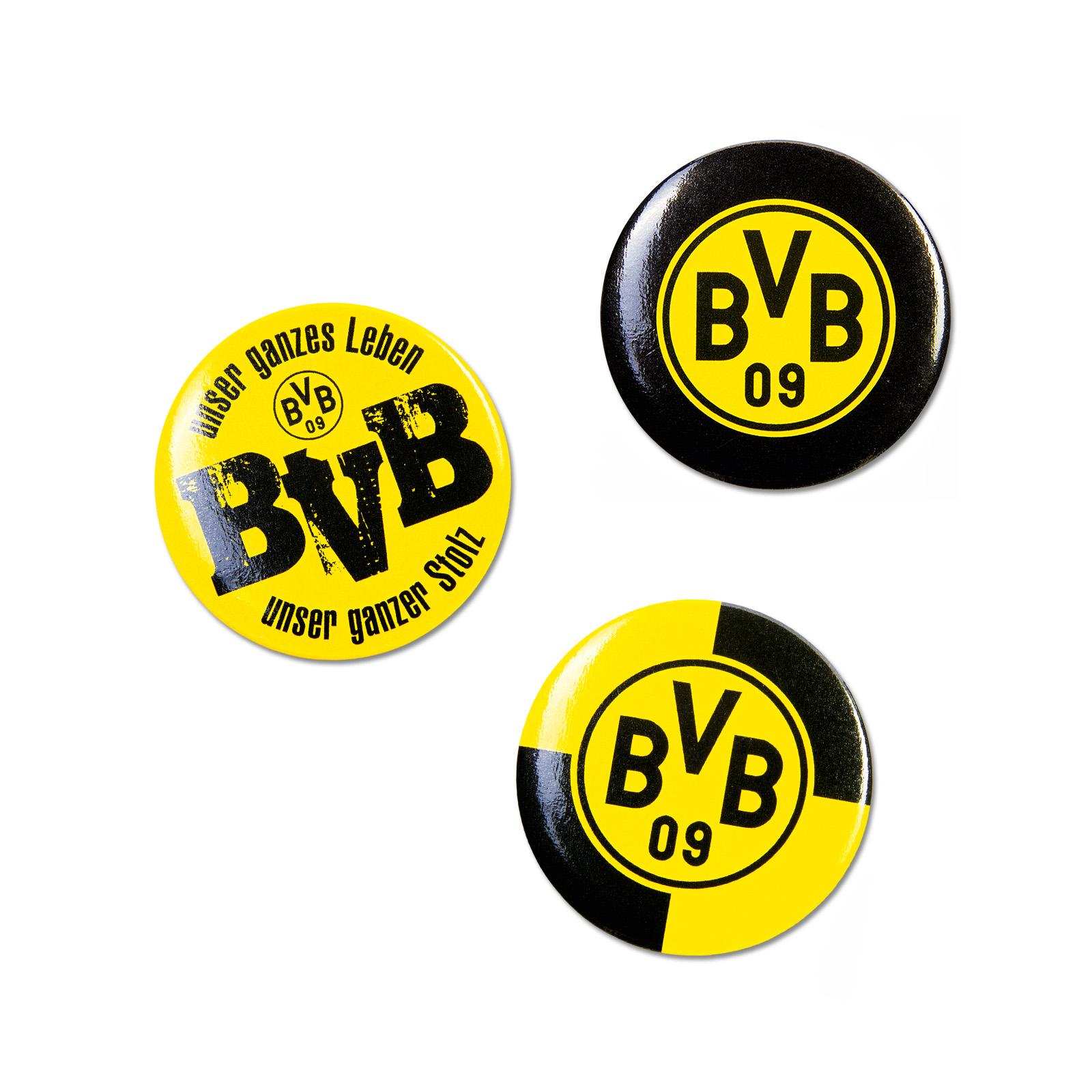 BVB Ansteck Buttons 3er Set