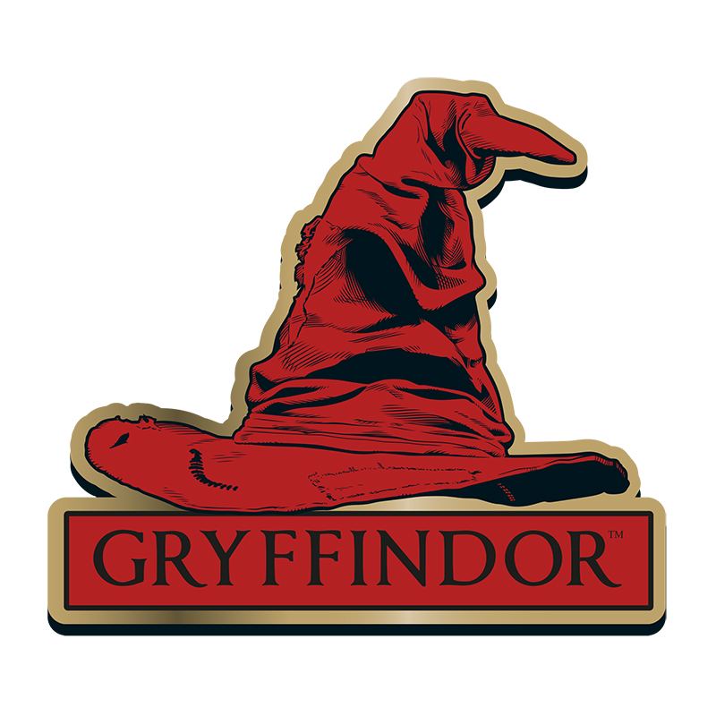 "Harry Potter Anstecker Pin Badge ""Gryffindor"" Sorting Hat"