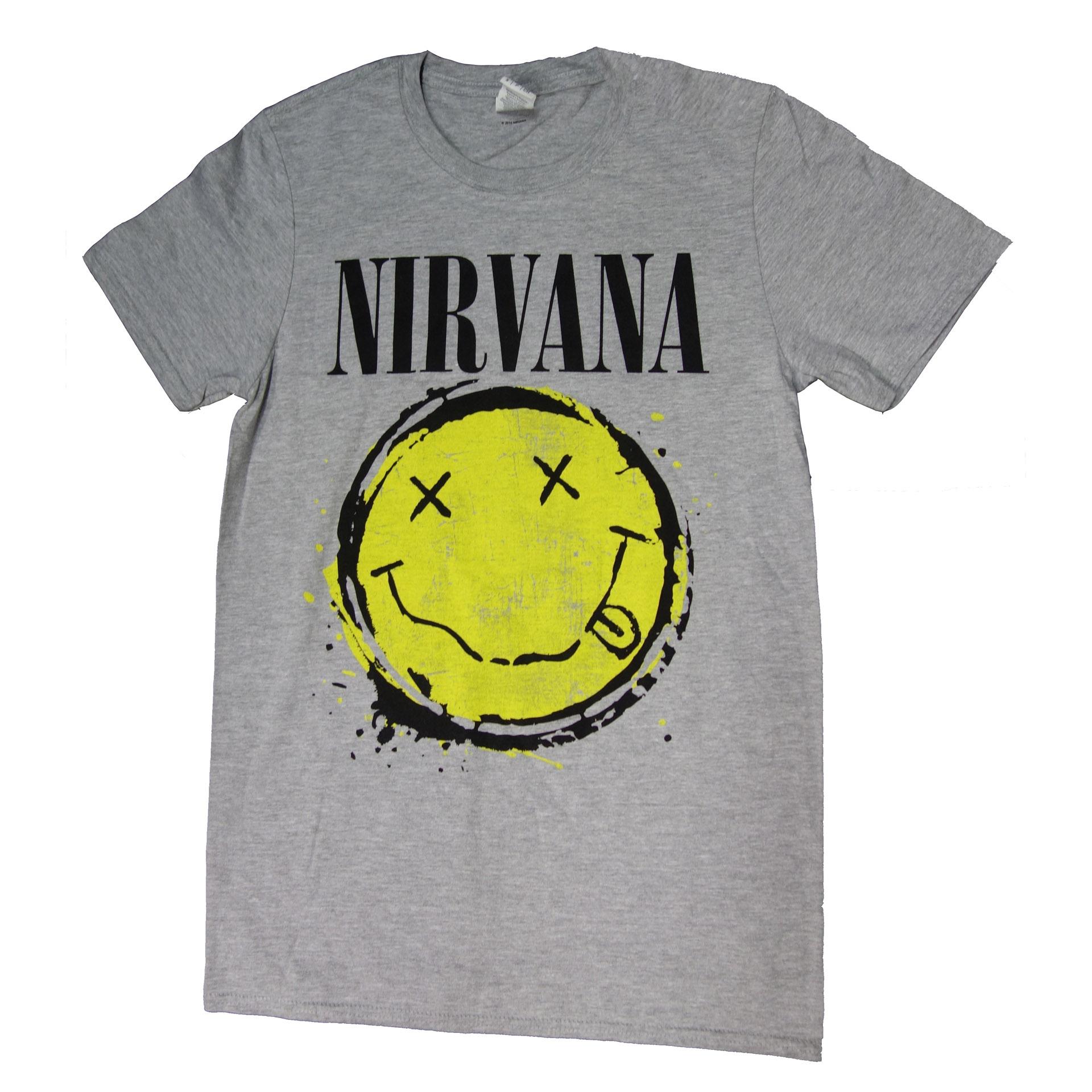 T-Shirt Nirvana Smiley