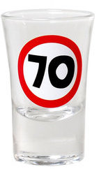 "Geburtstagsgeschenk Schnapsglas ""70"" Shotglas Geschenkidee"