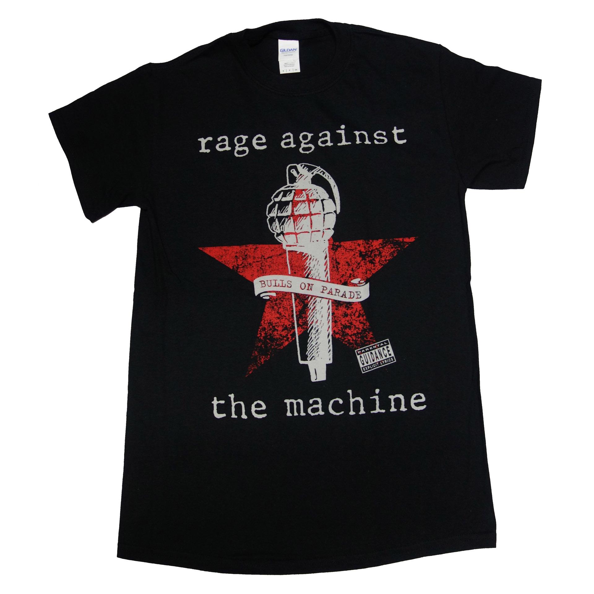 T-Shirt Rage Against The Machine Bulls On Parade Mic