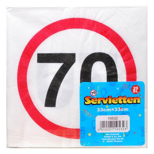 """Geburtstagsdekoration Servietten """"70"""""""