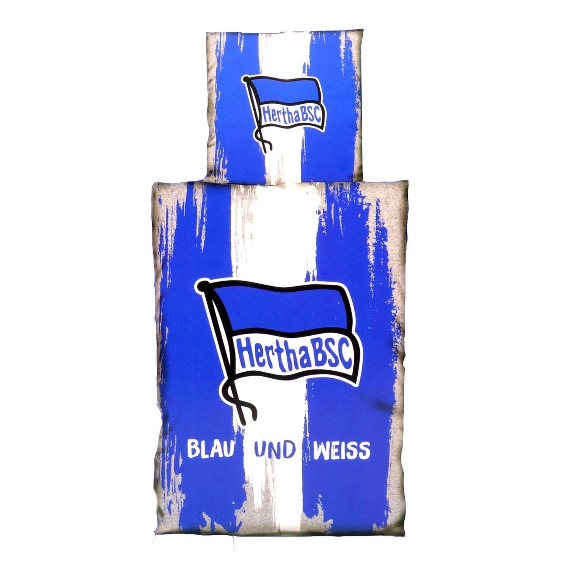Hertha BSC Bettwäsche Blau Und Weiß