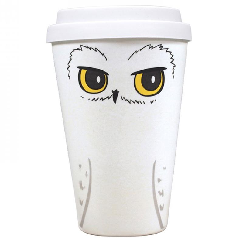 "Harry Potter Bamboo Travel Mug Coffee To Go Becher ""Hedwig"""