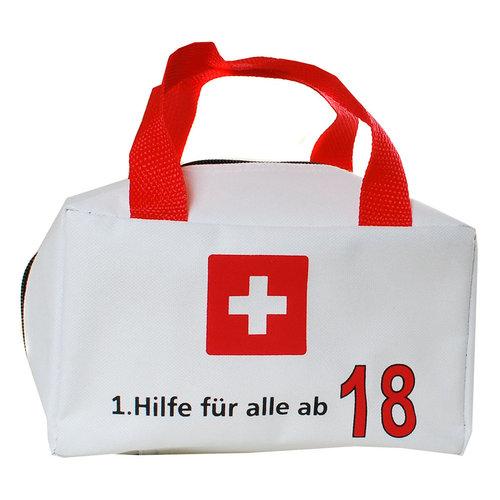 """Geburtstagsdekoration """"18"""" Geschenkidee 1. Hilfe Tasche Spaßgeschenk"""