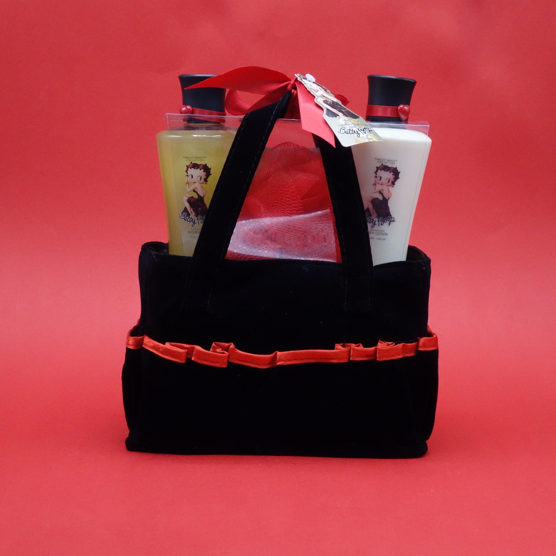 Betty Boop Geschenkset Duschgel Body Lotion Netzschwamm
