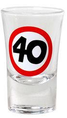 "Geburtstagsgeschenk Schnapsglas ""40"" Shotglas Geschenkidee"
