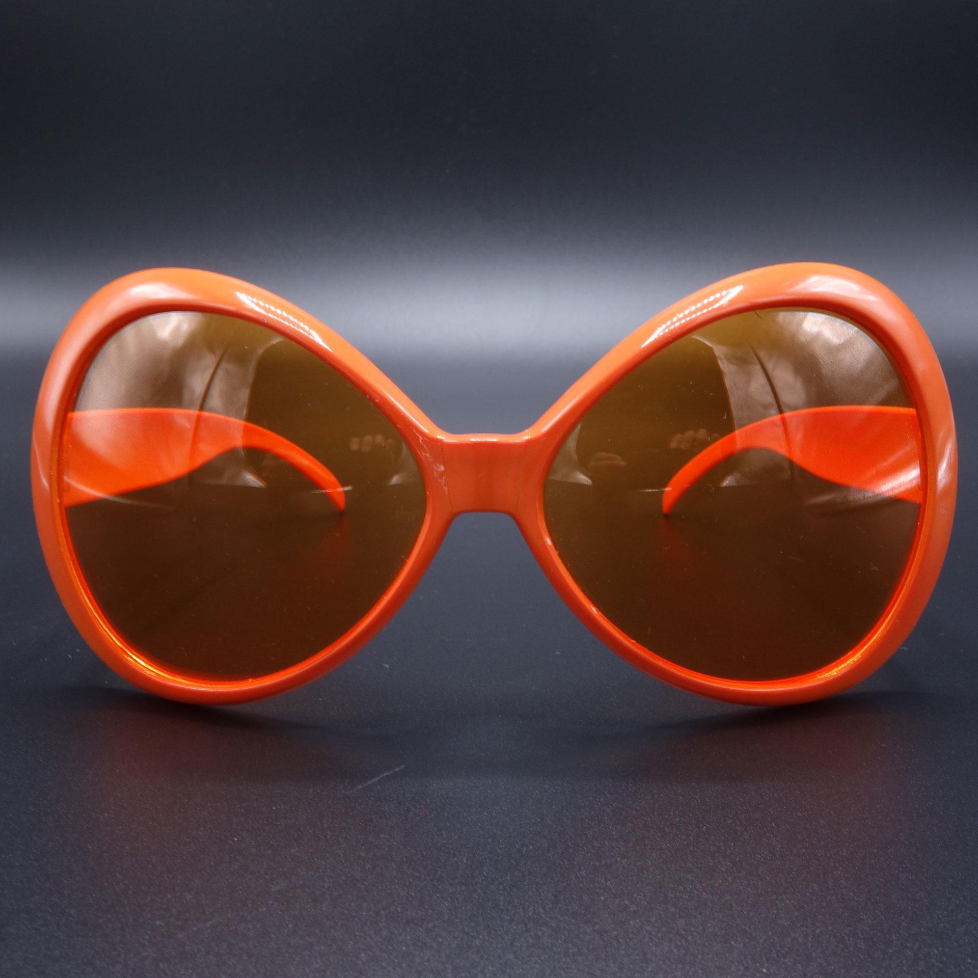 Partybrille Spassbrille Scherzartikel Grosse Brille Orange